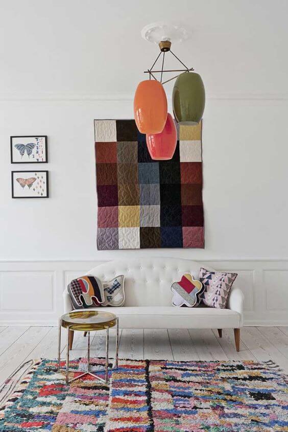 Tapete frufru para sala colorido
