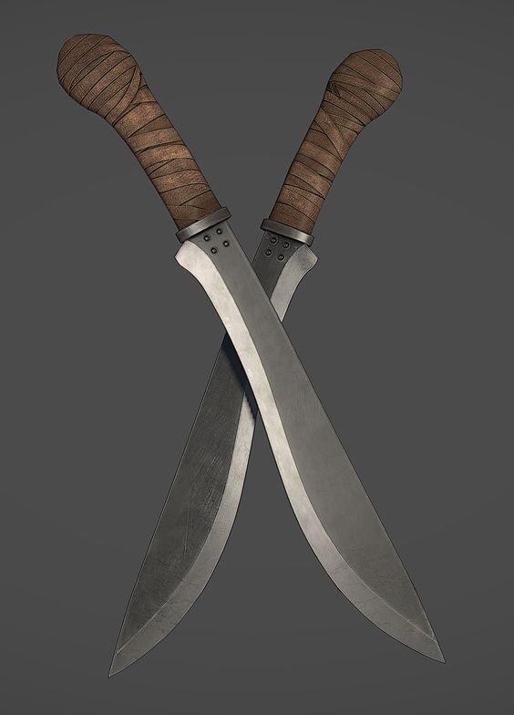 tipos de facas - facas grandes