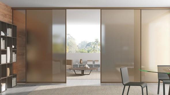 Tipos de vidro acidado marrom para casa