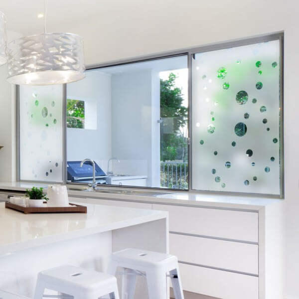 Tipos de vidro para janela jateada