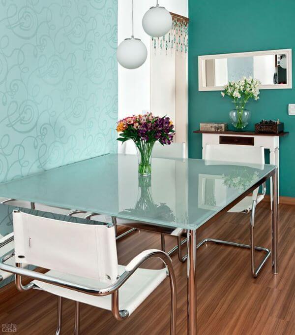 Tipos de vidro esmaltado turquesa