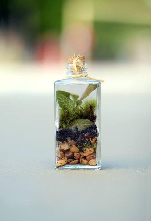 Modelo de mini cachepot de vidro para plantas