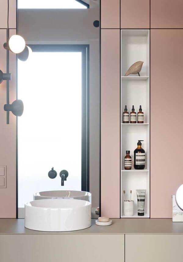 Nicho para banheiro branco