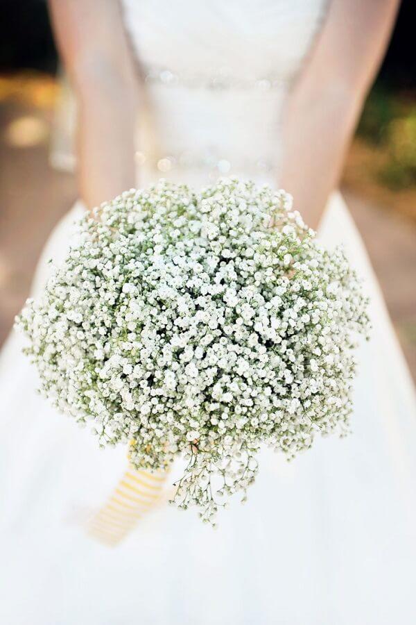Buquê especial feito com flor mosquitinho
