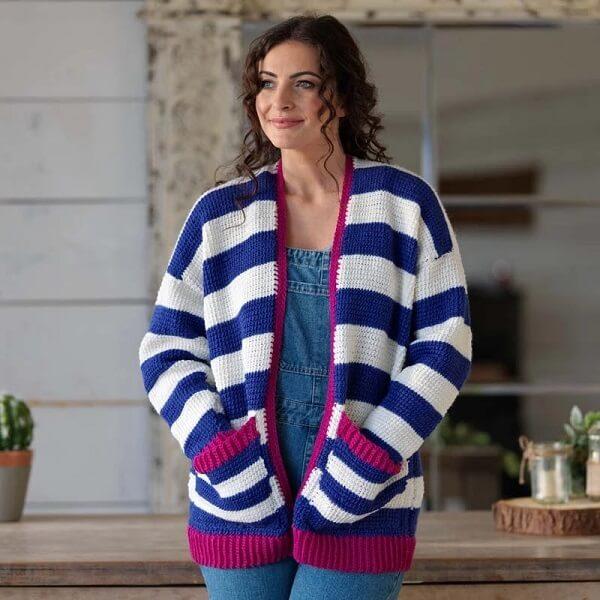Confeccione roupas com a técnica de crochê tunisiano