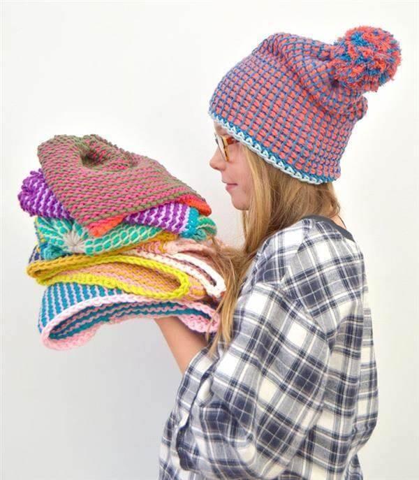 Faça diferentes modelos de touca com a técnica de crochê tunisiano