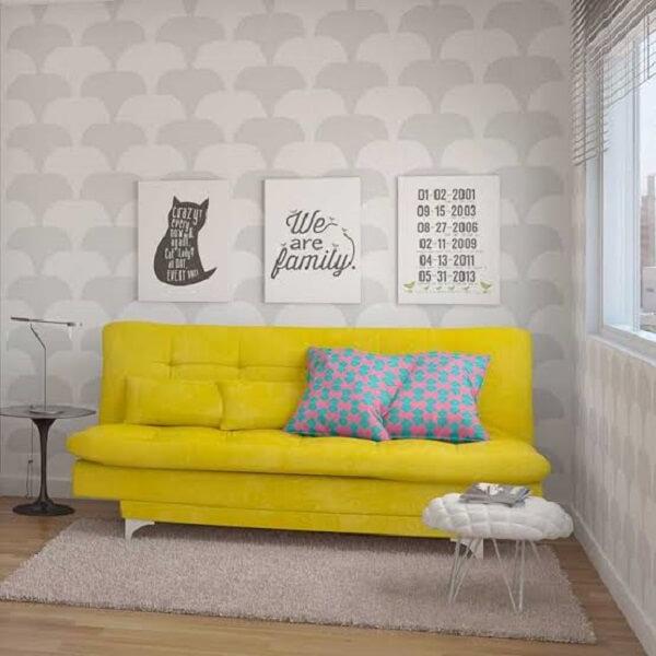 Otimize os espaços da casa utilizando um modelo de sofá cama versátil 3 lugares