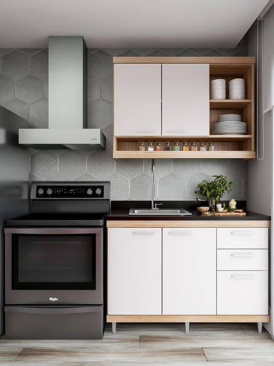Armário de cozinha 3 portas aéreo