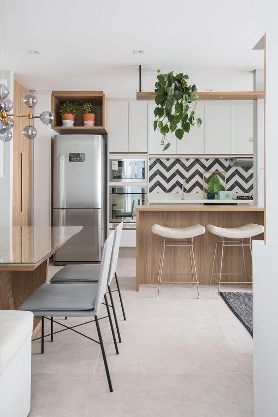 Armário de cozinha completo para cozinha americana