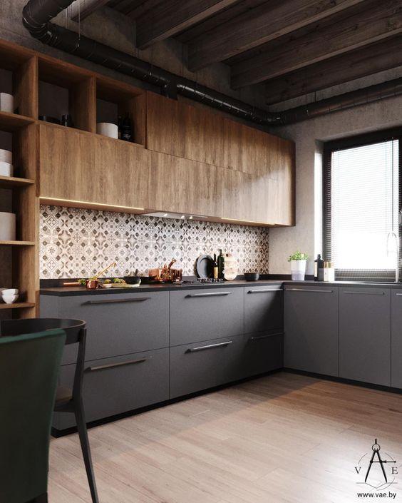 Armário de cozinha industrial