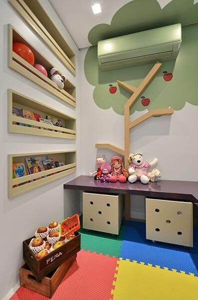 Brinquedoteca colorida para decoração criativa