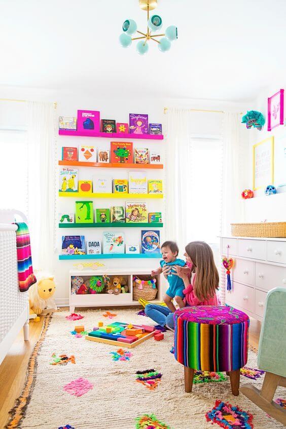 Brinquedoteca de quarto infantil criativa
