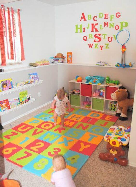 Espaço para guardar os brinquedos infantis