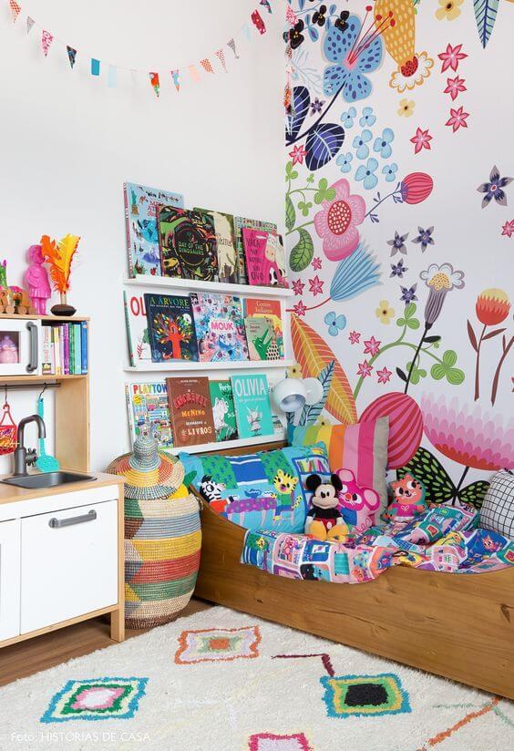 Brinquedoteca infantil no quarto
