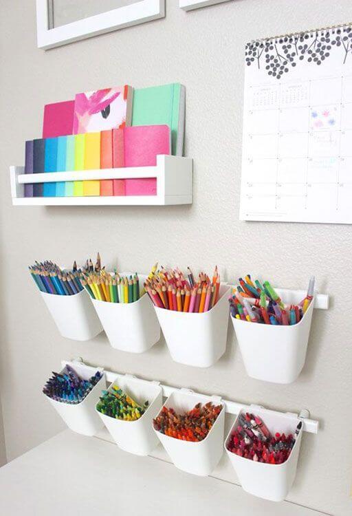 Estante para colorir