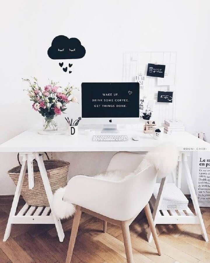 cadeira escritório branca Foto Blog Estilo Proprio By Sir