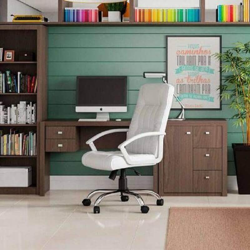 cadeira giratória branca Foto Pinterest