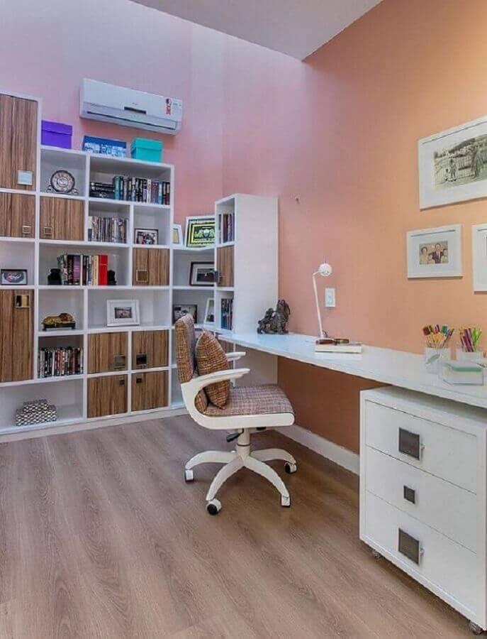 cadeira giratória branca para escritório simples Foto Pinterest