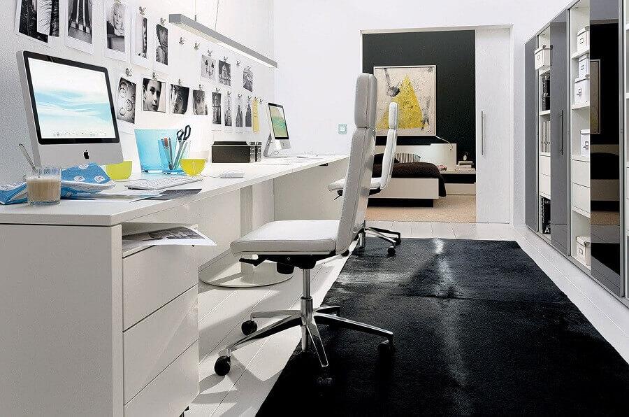 cadeira para escritório branca giratória Foto Apartment Therapy