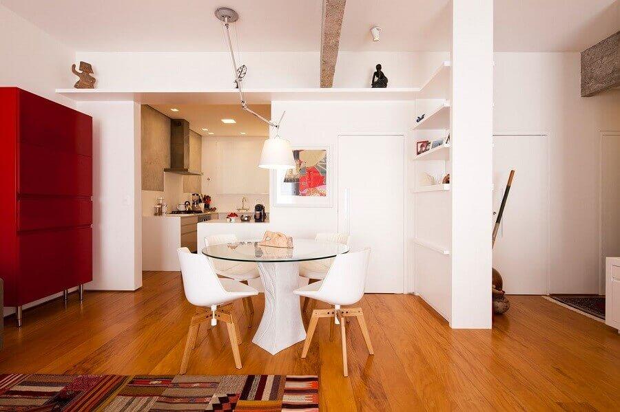 cadeiras brancas para sala de jantar Foto A.M Studio Arquitetura