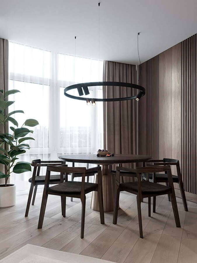 cadeiras de madeira para sala de jantar moderna Foto Behance