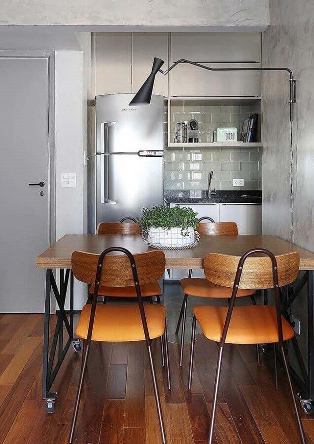 cadeiras de madeira para sala de jantar pequena Foto Wood Save