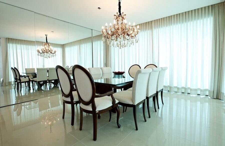 cadeiras estofadas para sala de jantar sofisticada Foto Ludmilla Coutinho