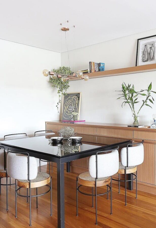 cadeiras para sala de jantar com design diferente Foto Homedit