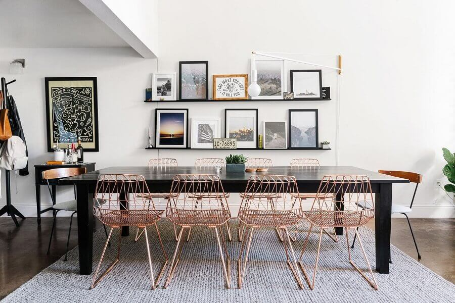 cadeiras para sala de jantar modernas Foto Planete-deco