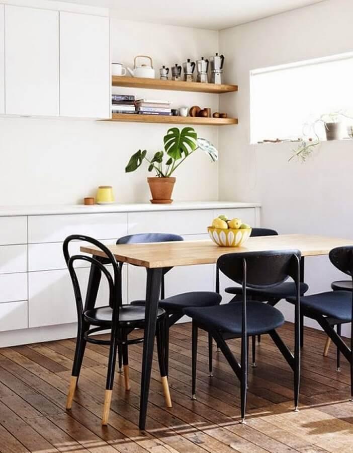 cadeiras pretas avulsas para decoração de sala de jantar Foto Detalhes do Céu