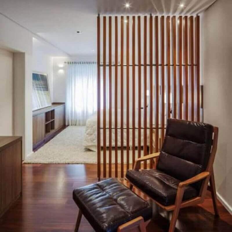 casa com treliça de madeira para divisória Foto Homedit