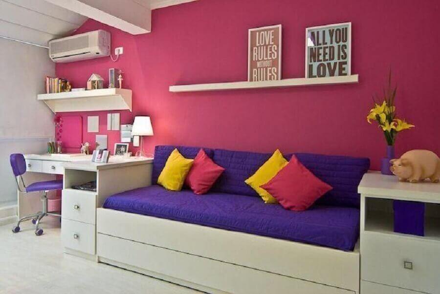 cores para quarto de moça simples Foto Carolina Danielian