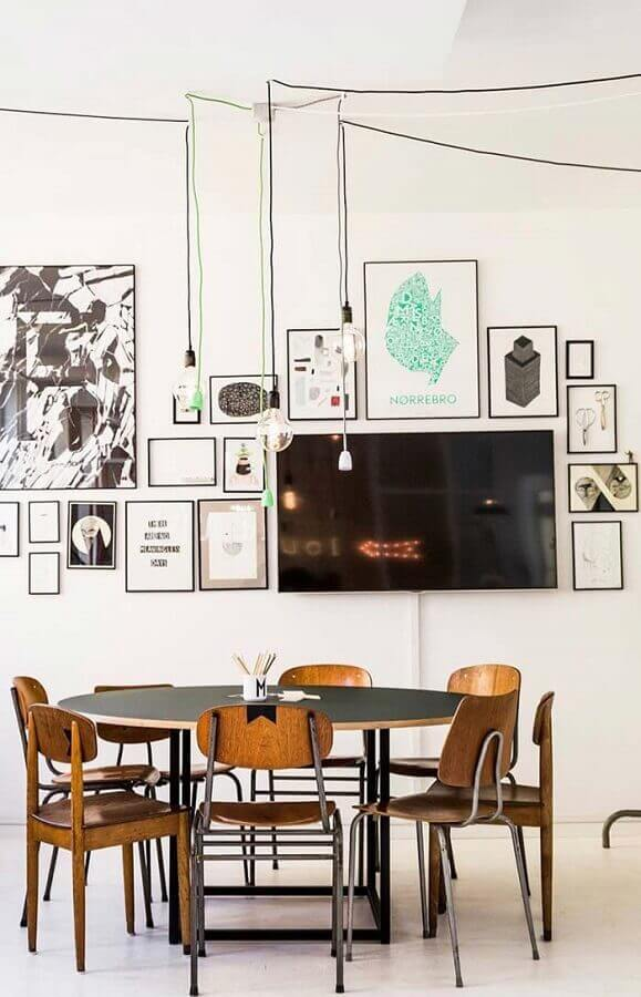 decoração com cadeiras para sala de jantar avulsas Foto Homedit