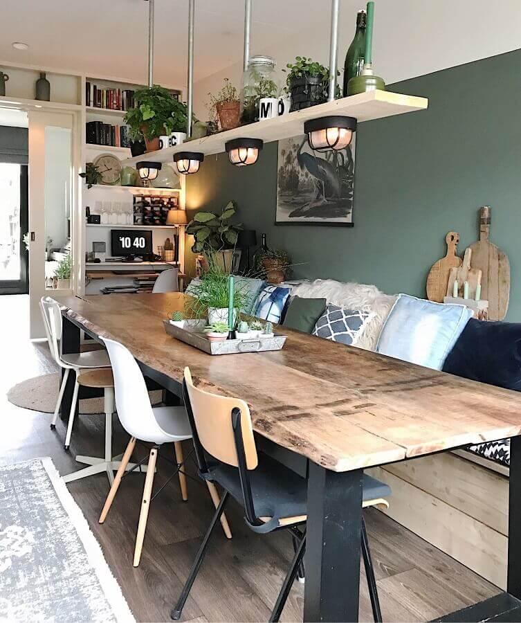 decoração moderna com cadeiras para sala de jantar avulsas Foto Pinterest