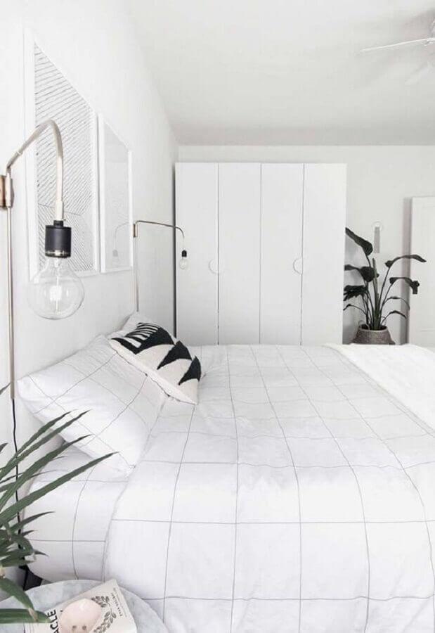 decoração moderna para quarto branco Foto HomeyLife