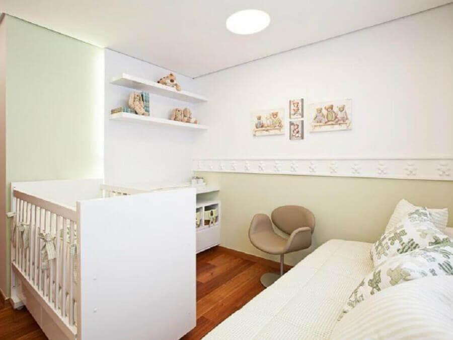 decoração neutra para quarto de bebê branco Foto Eduarda Corrêa Arquitetura