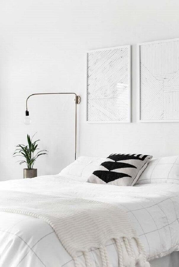decoração para quarto branco de casal Foto HomeyLife