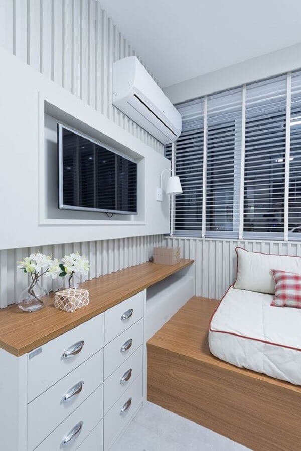 decoração para quarto branco planejado Foto Casa de Valentina