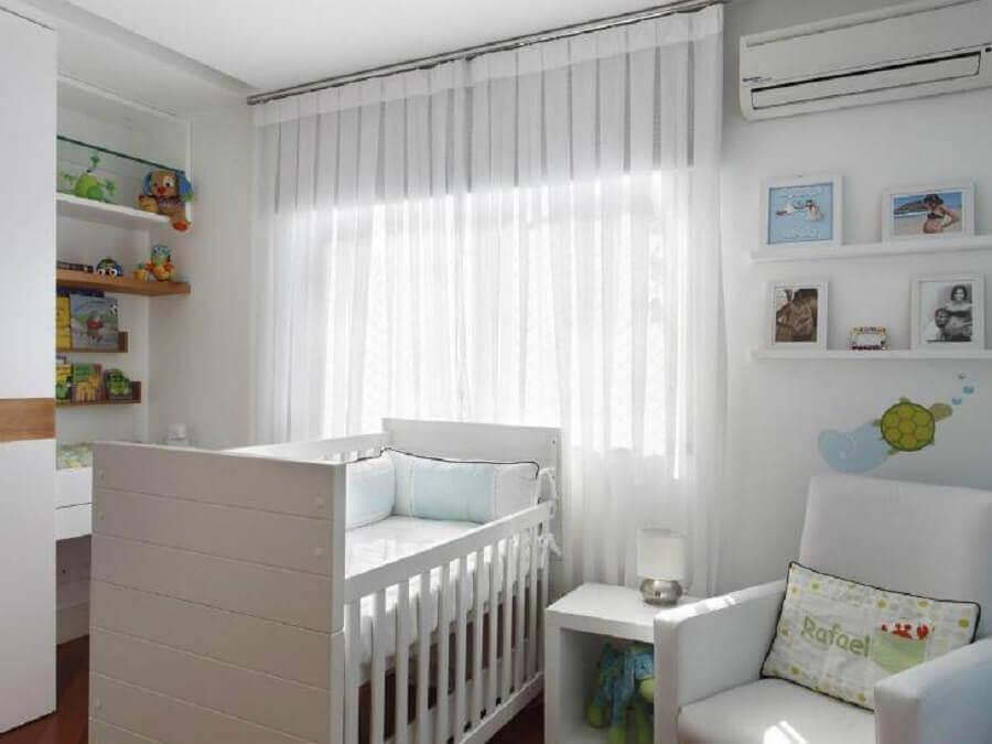 decoração quarto de bebê branco Foto Letícia Araujo