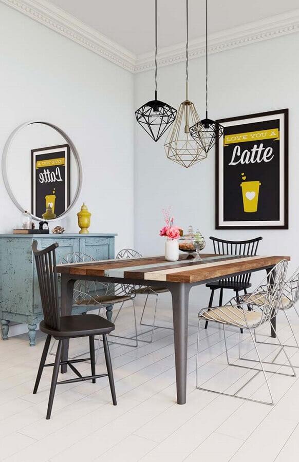 decoração simples com cadeiras para sala de jantar avulsas Foto Decoração de Casa
