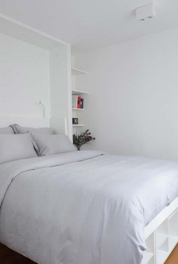 decoração simples para quarto branco Foto Pinterest