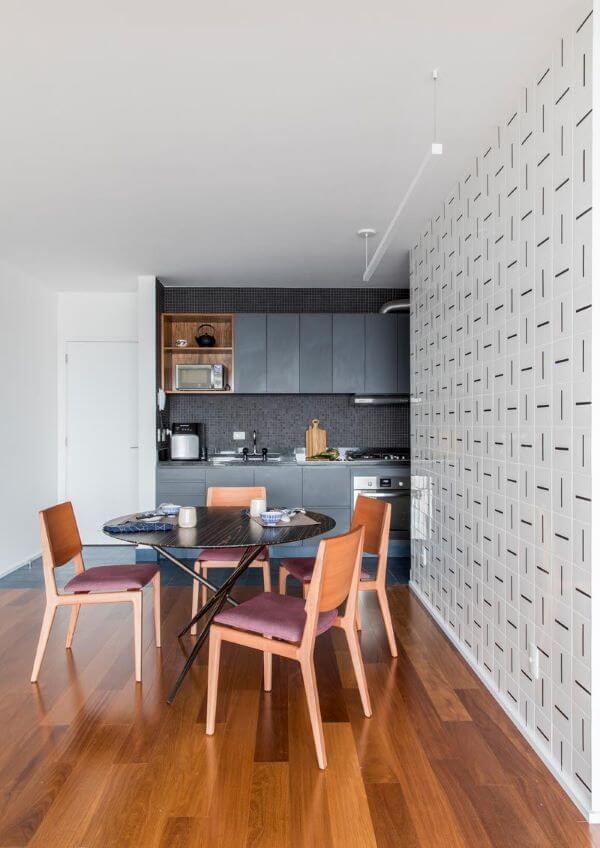 Decoração com armário de cozinha pequena