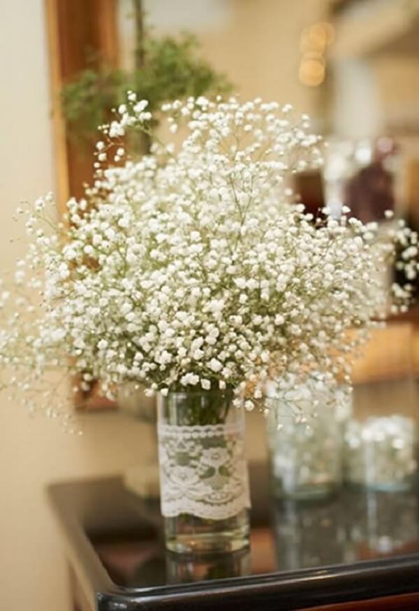 As flores mosquitinho deixam o ambiente mais romântico