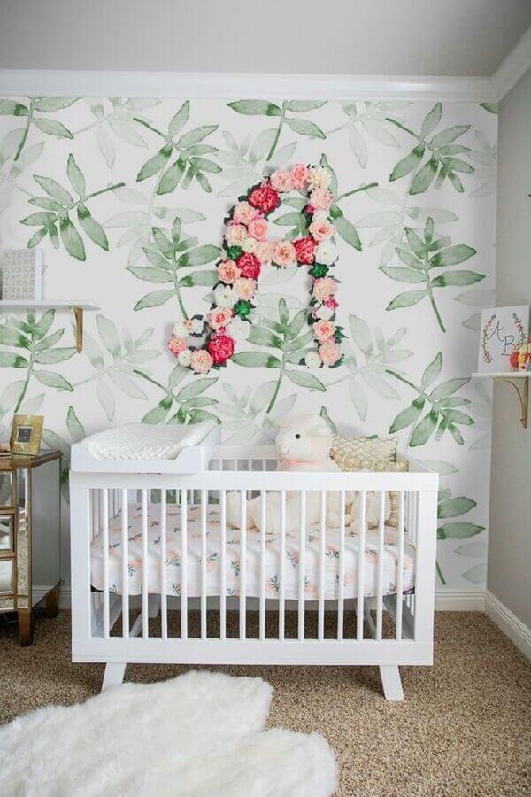 delicado papel de parede para quarto de bebê feminino Foto Pinterest