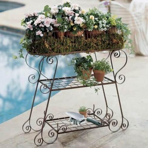 Floreira de ferro