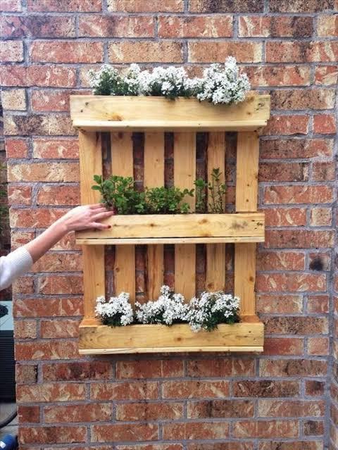 floreiras de pallet