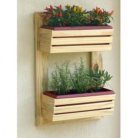 Floreira vertical de parede pequena