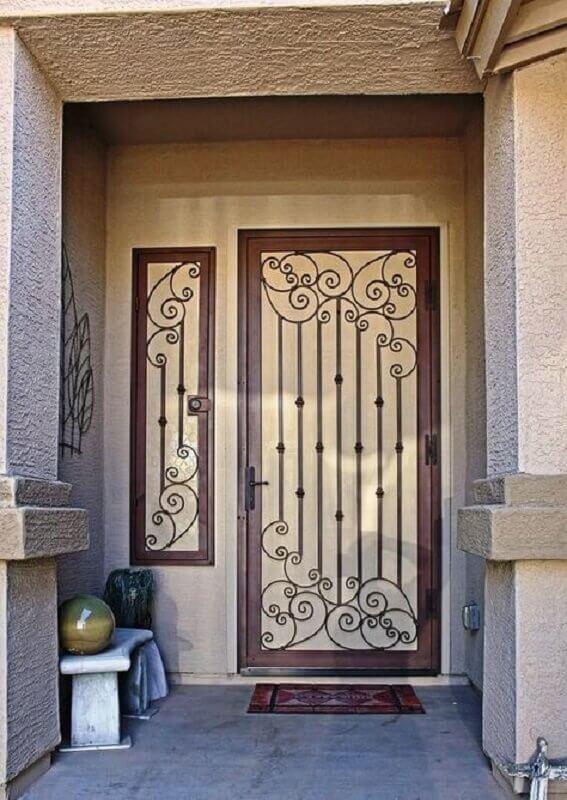 grade de ferro para porta de entrada Foto Pinterest