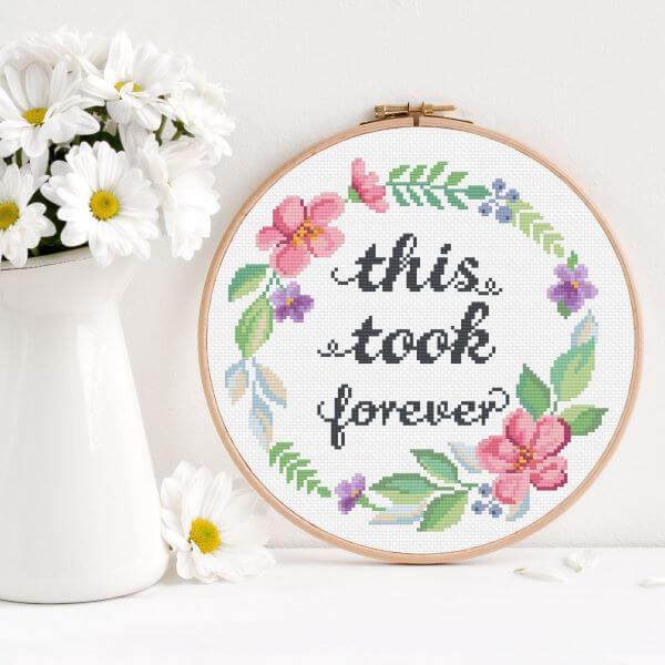 Use o ponto cruz para decorar sua casa com frases lindas