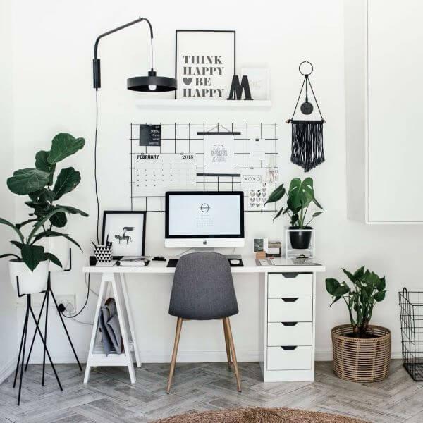Mesa cavalete com gaveteiro organizador